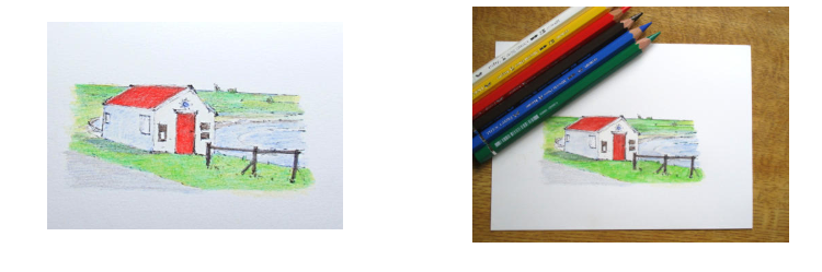 Artwork done in Albrecht Durer watercolour pencils