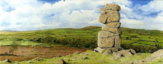Bowerman stone landscape drawing tutorial version 1