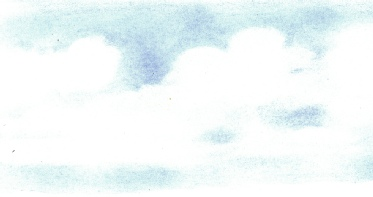 Sky from rubbed in dry pencil